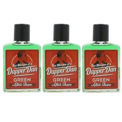Dapper Dan 3 x 100 ml After Shave GREEN Aftershave NEU Set