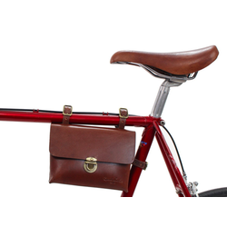 Gusti Leder Rahmentasche Firmin L., Fahrradtasche Radtasche für Werkzeug Fahrrad Ledertasche braun Stahlrahmen
