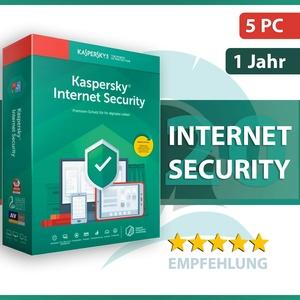 Kaspersky Internet Security 2021 5 PC (Geräte) 1 Jahr - Aktivierungscode