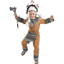 Kostüm Indianer Boy Wild Wigwam, 3-tlg. braun Gr. 128 Jungen Kinder