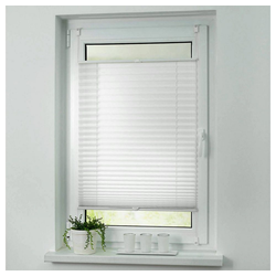 Plissee ohne Bohren Faltstore Fensterrollo Jalousie Faltrollo Plisee Klemmfix, i@home weiß 50 cm x 200 cm