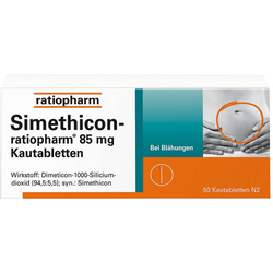 SIMETHICON-ratiopharm 85 mg Kautabletten 50 St.
