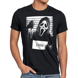 style3 Print-Shirt Herren T-Shirt Scream 1996 halloween horror maske 4XL