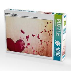Fliegende rote Herzen Lege-Größe 64 x 48 cm Foto-Puzzle Bild von Digital-Art Puzzle