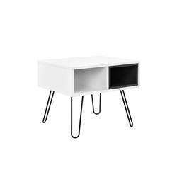 en.casa Schreibtisch, Karlstad Konsolentisch Beistelltisch weiß weiß 50 cm x 44 cm x 50 cm