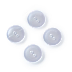 PRYM Kittel-und Schlafanzugknöpfe, 17mm, perlmutt, 100% Kunststoff, Bekleidungsverschlüsse, Knöpfe