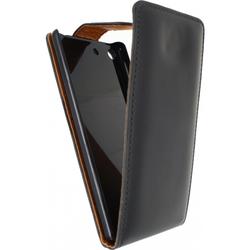 Sony Xperia M5 Hülle Xccess Schwarz Flipcase Flip Case