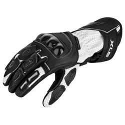 Motorradhandschuhe von XLS Race Line Schwarz Weiß