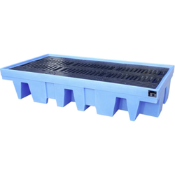 PE-Auffangwanne Typ WP-PE 8/11 PE-Auffangwanne für200-l-Fässer/1000-l-IBC 2560x1350x510 mm. Auffang