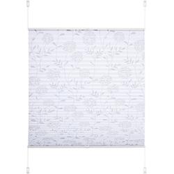 Plissee Ausbrenner, Liedeco, Lichtschutz, ohne Bohren, verspannt, Klemmfix-Plissee Ausbrenner Dekor Floral 90 cm x 130 cm