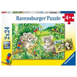 Süße Koalas und Pandas. Puzzle 2 x 24 Teile
