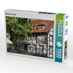 Biergarten bei Reul Lege-Größe 64 x 48 cm Foto-Puzzle Bild von Anke Grau Puzzle