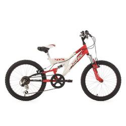 """Kinderfahrrad Mountainbike Fully 20"""" Zodiac rot-weiß RH 31 cm KS Cycling"""