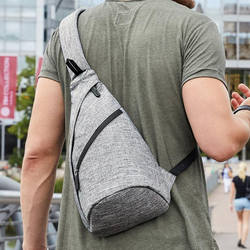 Rucksack Triangle in Grey Melange | bags2GO
