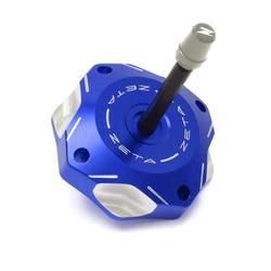 Zeta Tankdeckel  Blau, Suzuki RM 85/125/250, RMZ 250/450, RMX-Z 450