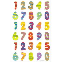 Etiketten Zahlen bunt VE=30 Etiketten