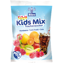 Bloc Traubenzucker Fizzy Kids Mix Btl. 75 g