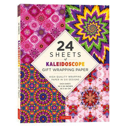 24 Sheets of Kaleidoscope Gift Wrapping Paper: High-Quality 18 X 24 (45 X 61 CM) Wrapping Paper