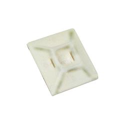 Klebesockel 19 x 19 mm für Kabelverbinder bis 3,6 mm - weiß (100 Stück)