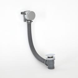 Ab- und Überlaufgarnitur mit Füllfunktion für Badewannen Chrom - Como