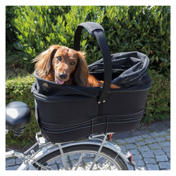 TRIXIE Tierfahrradkorb TRIXIE Fahrradkorb für Haustiere Hinten 29×49×60 cm Schwarz