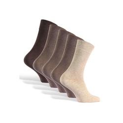 Reslad Langsocken Reslad Business Socken (10 Paar) Damen & Herren (10-Paar) Herrensocken ohne drückende Naht braun 43 - 46