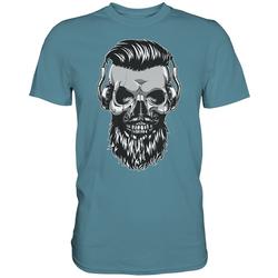 weargo T-Shirt Hipster Skull Totenkopf mit Gasmaske L