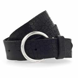 b.belt Gürtel Leder schwarz 80 cm