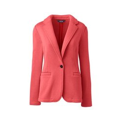 Strickfleece-Blazer, Damen, Größe: 48-50 Normal, Rot, by Lands' End, Hell Wassermelone Sorbet - 48-50 - Hell Wassermelone Sorbet