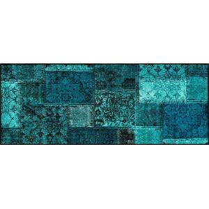Läufer Vintage Patches, wash+dry by Kleen-Tex, rechteckig, Höhe 7 mm blau 75 cm x 190 cm x 7 mm