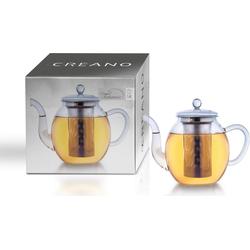 Creano Teekanne, 1,0 l, Borosilikatglas, Edelstahl
