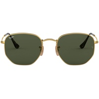 Ray Ban Hexagonal Flat Lenses RB3548N 51mm gold / green classic
