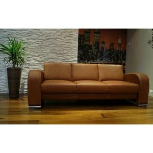 Braun Echtleder 3 er Sofa 205 cm 100% Echt Leder Couch viele farben erhältlich