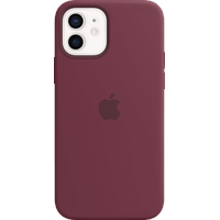 Apple iPhone 12 | 12 Pro Silikon Case mit MagSafe pflaume