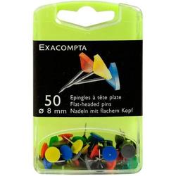 Flachkopfnadeln 8mm VE=50 Stück sortiert
