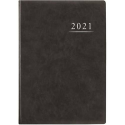 Terminbuch A4 21x29,5cm 1 Tag/Seite anthrazit Kalendarium 2021