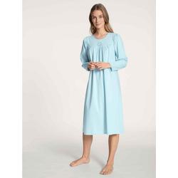 CALIDA Nachthemd Nachthemd Langarm (1-tlg) blau L = 48/50