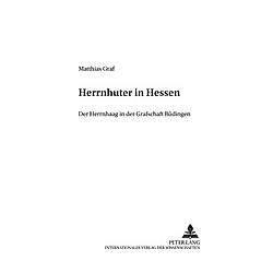 Herrnhuter in Hessen. Matthias Graf  - Buch