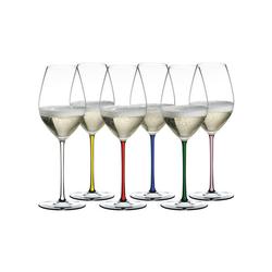 RIEDEL Glas Champagnerglas Fatto A Mano Champagner 6er Set, bunt