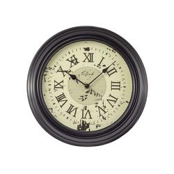 NOOR LIVING Dekoobjekt Noor-Living runde Wanduhr Wall Clock Rustikal