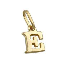 unbespielt Buchstabenanhänger Schmuck Kettenanhänger Anhänger Buchstabe E aus 375 Gold 8 x 5.5 mm, Goldschmuck für Damen