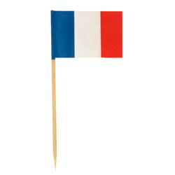 Flaggenpicker Fahnenpicker Deko-Picker Land 'Frankreich', 100 Stk.