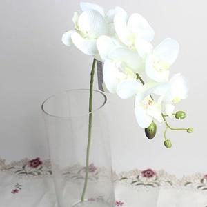 Benoon Künstliche Blumen für den Außenbereich, künstliche Schmetterling-Orchidee, Blume, 1 Stück, Hochzeit, Heimdekoration, künstliche Stoffblume, weiß