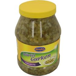 Nowka Würfel Gurken mit Süßungsmitteln verzehrfertige Gurken 2260g
