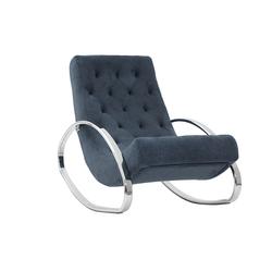 Design-Sessel Schaukelstuhl CHESTY blauer Samt