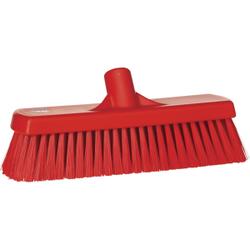 Vikan Besen, 300 mm medium, speziell zum Kehren in feuchten Bereichen, Farbe: rot