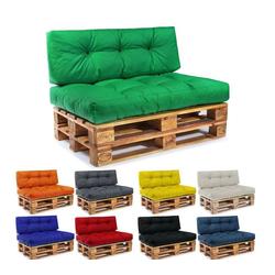 Easysitz Sitzkissen Palettenkissen Set, 120 x 80 cm für Europaletten grün