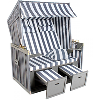 Tectake Luxus grau/weiß inkl. Schutzhülle