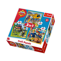 Trefl Puzzle 3in1 Puzzle 20/36/50 Teile - Feuerwehrmann Sam, Puzzleteile