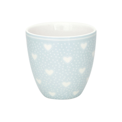 Greengate Becher Greengate MINI Latte Cup PENNY PALE BLUE Blau mit Herzen